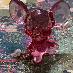 Fenton mouse  signed vintage